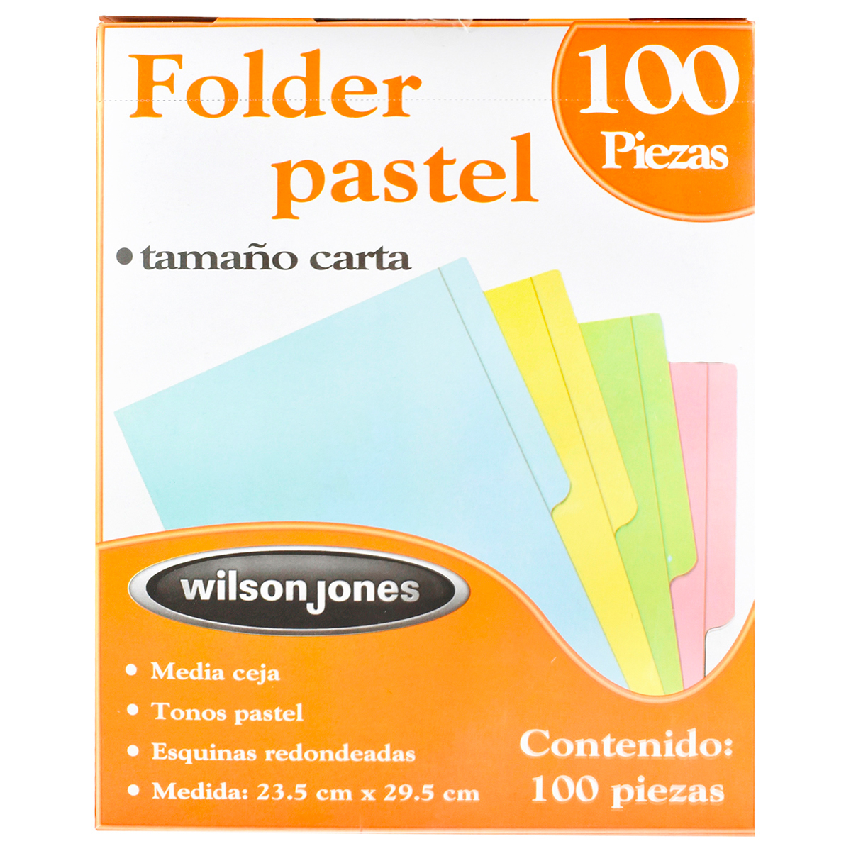 FOLDER CARTA WILSON JONES (AMARILLO, 100 P.)