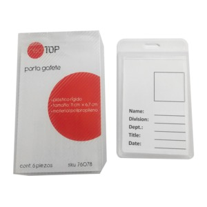 PORTA GAFETE RED TOP SD8136Y (PLASTICO, 6 PZAS.)