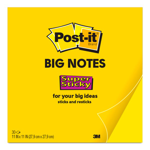 NOTAS ADHESIVAS POST-IT SUPER STICKY BIG NOTES (NEON,11X11)
